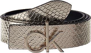 Calvin Klein CK LOW BELT REV GIFTPACK, BLACK/CHAMPAGNE, 85 CM For Women's