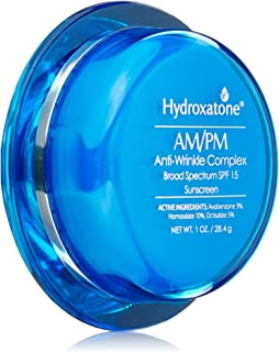 Hydroxatone AM/PM Anti Wrinkle Complex Face Cream with SPF 15 | Daily Facial Moisturizer for Neck & Face | Hyaluronic Acid Helps Reduce Fine Lines and Anti Aging, 1 Fl Oz