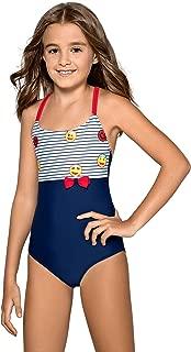 LORIN Girls Kids Costume da Bagno per Bambini Costumi da Bagno Costume da Bagno Intero Beachwear 7/ /13/Anni M58/ 7//–/8/Anni 134/cm, Blu Royal, Rosa
