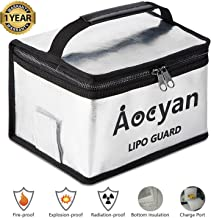 Fireproof Lipo Safe Bag Lipo Battery Charge Bag for Lipo Charging and Storage, Exclusive Charge Port & Bottom Insulation, Explosionproof Double Metal Zipper Large Bag (210×160×130mm)
