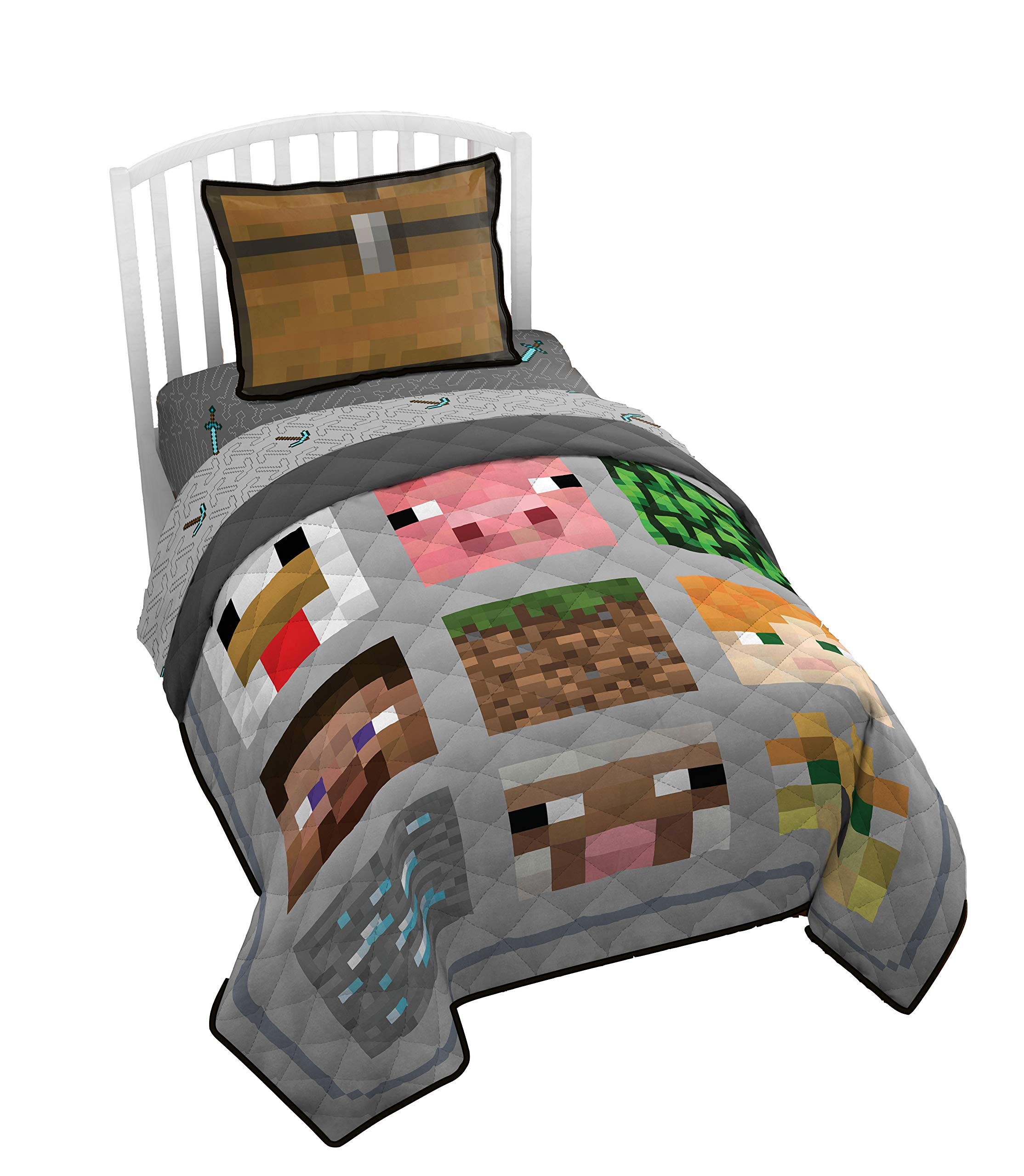 Minecraft Twin Quilt Blanket & Sham 11% Polyester