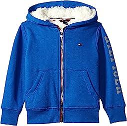Tommy Hilfiger Kids - Sherpa Lining Full Zip Hoodie (Toddler)