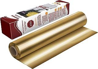 Firefly Craft Elastic Foil Gold Heat Transfer Vinyl | Metallic Gold HTV Vinyl | Gold Foil Iron On Vinyl for Cricut and Sil...