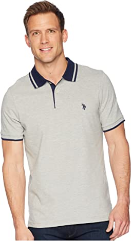 Short Sleeve Classic Fit Solid Pique Polo Shirt