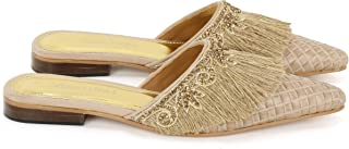 Anna Ricci Handwoven Embellished with a Jute Fringe