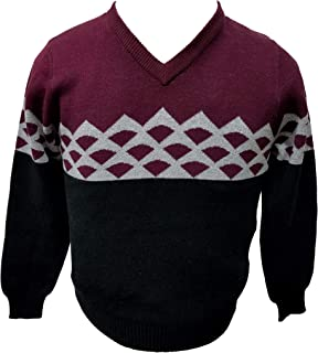 Fiasuy Mens Round Neck Personality Sweater Spring and Autumn and Winter