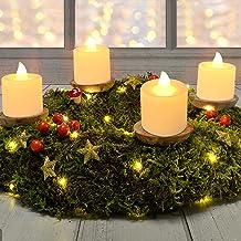 TOGETOP Led-kaarsen, 24 led-theelichtjes, Kaarslampjes,Vlamloze Kaarsen, Theelampen, Led-vlamloze Tealights, Elektrische K...