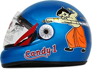 ACTIVE CANDY-1 Full Face Helmet for Kids from 2 to 5 Years (BLUE,Size-Extra Small)(CARTOON CHARACTERs MAY VERY) (BLUE)