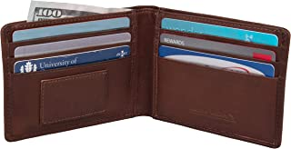 Rogue Wallet R6 Leather Wallet - RFID Blocking Classic Wallet Fits 12 Cards - Brown