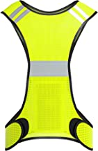 Dwawoo Reflektierende Weste Motorrad Radfahren Laufweste Hohe Sichtbarkeit Fluoreszierende reflektierende Laufbekleidung Warnweste f/ür Joggen im Freien Laufen
