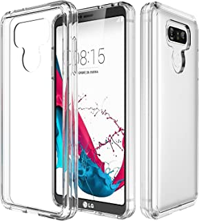 LG G6 Case,LG G6 Plus Case with See-Through and Drop Protection,Asmart TPU Grip Bumper & Clear Transparent Hard PC Backplate Hybrid Slim Thin Phone Case Cover for LG G6 Plus (Clear)