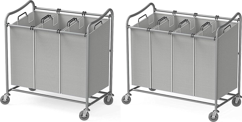 Simple Classic Houseware Heavy-Duty 3-Bag Weekly update + Laundry Sorter S 4-Bag Cart