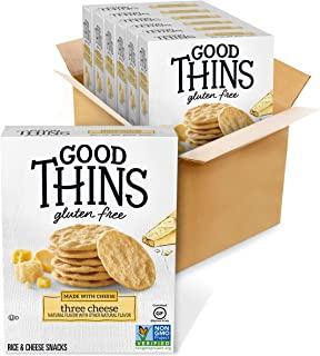 Sponsored Ad - Good Thins Three Cheese Rice & Cheese Snacks Gluten Free Crackers, 6 - 3.5 oz Boxes