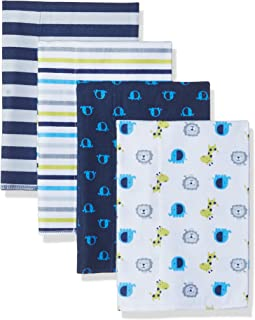 GERBER Baby Boys' 4-Pack Flannel Burp Cloth