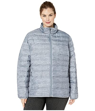 Columbia Plus Size Lake 22tm Down Jacket (Tradewinds Grey/Heather Print/Tradewinds Grey) Women