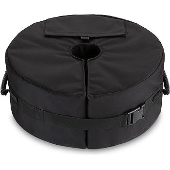Ardermu Basi per ombrelloni - Sacchetto da campeggio con base tenda per sabbia con supporto ergonomico Aggiungi peso per tutti gli ombrelloni o le aste all'aperto