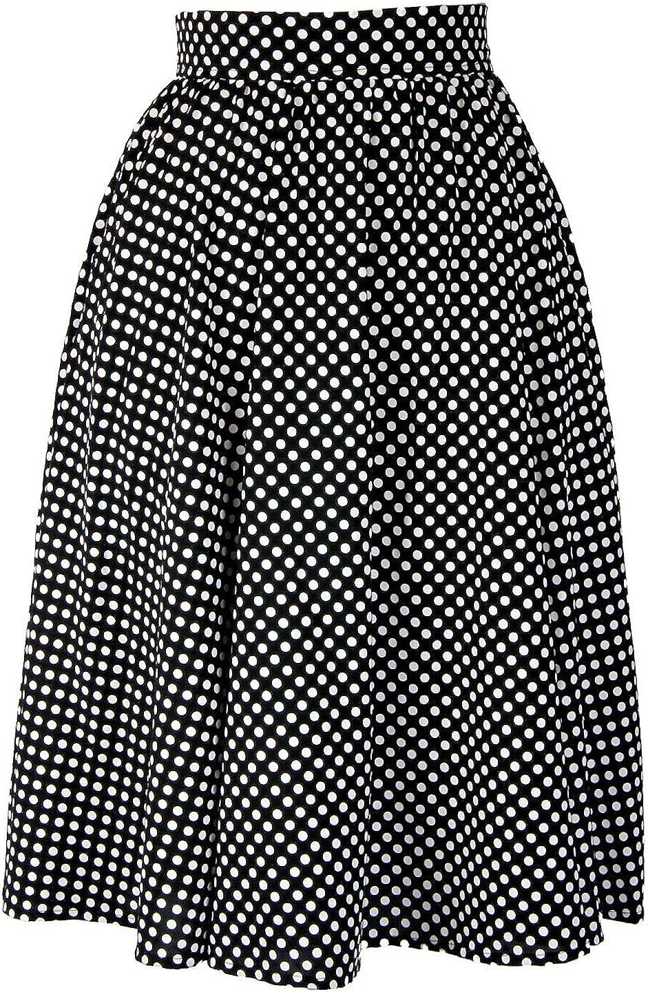 Nyteez Women's Vintage Style Polka Dot A-line Circle Skirt