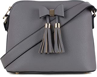 Women's Trendy Fashion Designer Bow Tassel Zipper Crossbody
