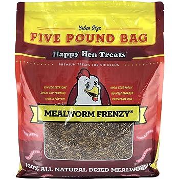 Happy Hen Treats Mealworm Frenzy Pet Treat, 5 Pounds Each
