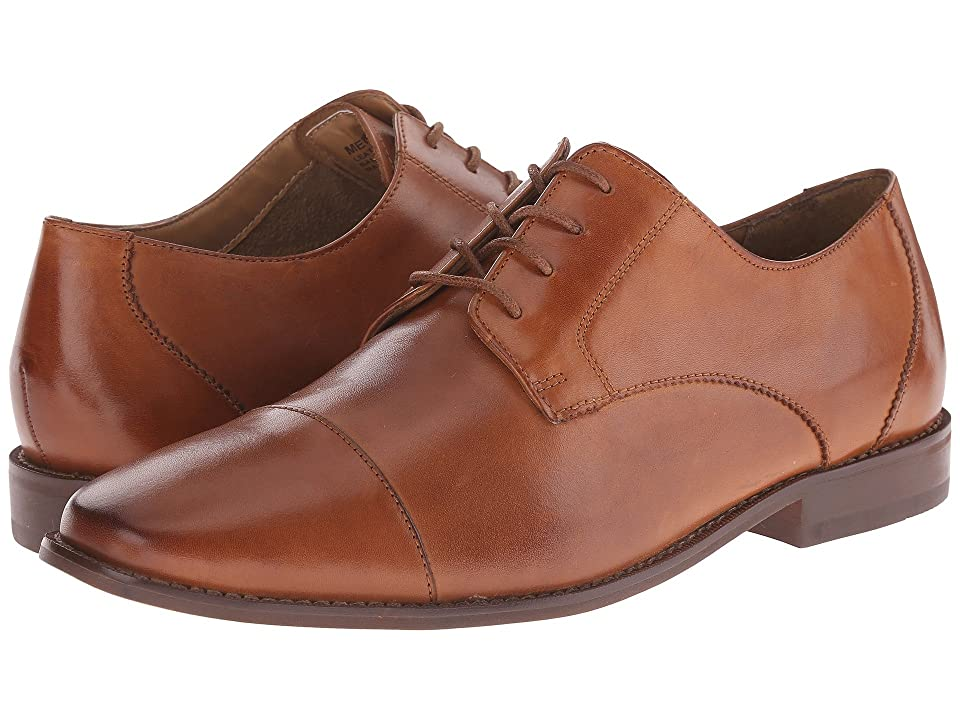 1920s Style Mens Shoes | Peaky Blinders Boots Florsheim Montinaro Cap Toe Oxford Saddle Tan Smooth Mens Lace Up Cap Toe Shoes $100.00 AT vintagedancer.com