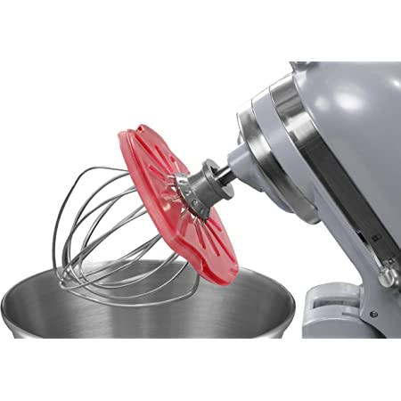 4.5qt 5qt The Ultimate Stand Mixer Accessory Mix Without The Mess Whisk Wiper/® PRO for Stand Mixers Compatible with KitchenAid Tilt-Head Stand Mixers Color: Red