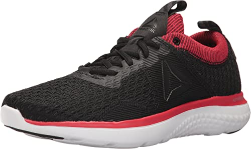 Reebok Hommes's Astroride courir FIRE MTM chaussures, noir Coal Primal rouge blanc argent Metallic Pewter, 9 M US