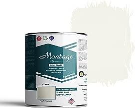 Montage Signature Interior/Exterior Eco-Friendly Paint, Swiss Coffee - Semi-Gloss, 1 Gallon