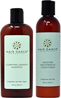 Apple Cider Vinegar Clarifying Growth Shampoo and Moisture and Strength Conditioner. No Sulfates, Parabens, or Silicones (8ozCombo)