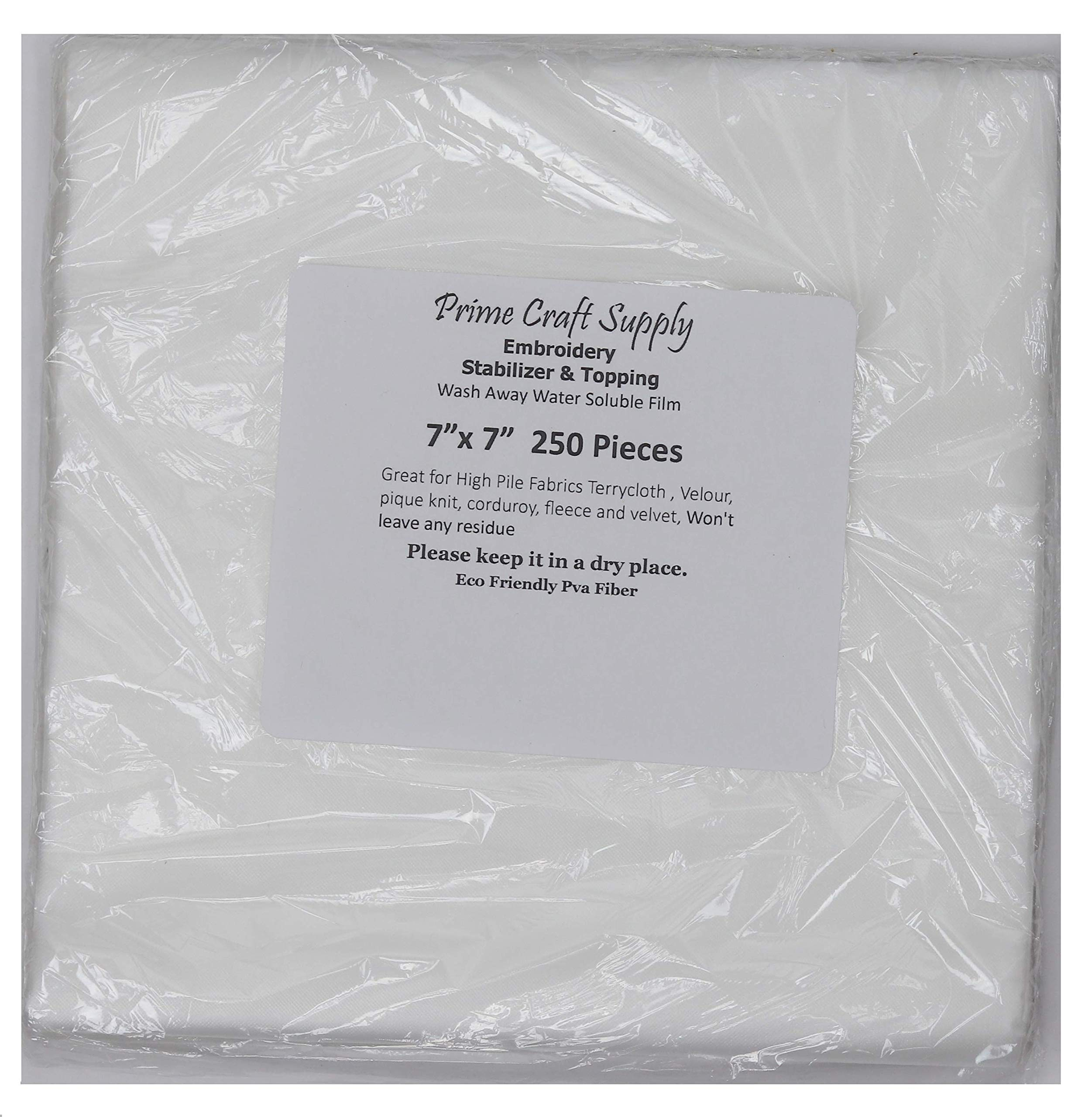12 X 110yd Roll Water Soluble Machine Embroidery Stabilizer /& Topping Wash-Away