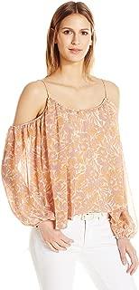 ASTR the label Women's Josephine Cold Shoulder Long Sleeve Top
