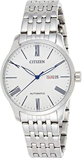 CITIZEN Mens Mechanical Watch, Analog Display and Stainless Steel Strap - NH8350-59B