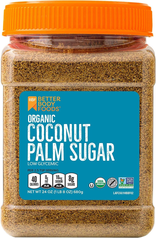 Organic Coconut Palm Sugar Sweetener specialty Columbus Mall shop Gluten-Free Subst Non-GMO