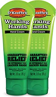 O'Keeffe's Working Hands Hand Cream, 3 ounce Tube, (Pack of 2)