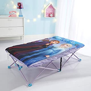 Idea Nuova Disney Frozen 2 Foldable Slumber Cot with Detachable Printed Sleeping Bag Featuring Anna & Elsa, Ages 3+