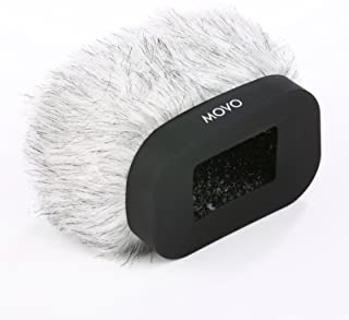 Movo WS-R30 Professional Furry Windscreen with Acoustic Foam Technology for Zoom H4n, H5, H6, Tascam DR-100 MKII and Sony PCM-D50 Portable Digital Recorders
