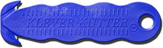 """Klever Innovations KCJ-1B Safety Cutter, Advanced Plastic Polymers, 4-5/8"""", Blue (Pack of 10)"""