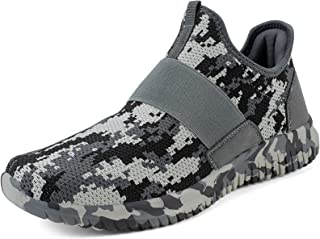 Sponsored Ad - Troadlop Mens Running Tennis Shoes Knitted Breathable Walking Athletic Shoes Fashion Sneakers