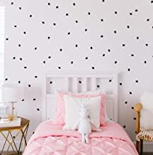 "Modern Maxwell Wall Art Decals for Girls Boys Nursery, Bedroom, Living Room ""London"" Black Dot Room Sticker 168 Pieces"