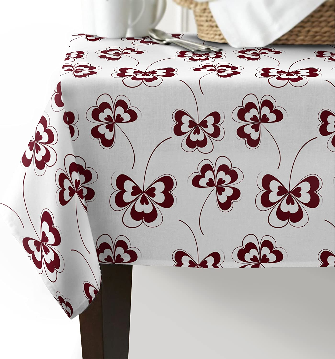 Edwiinsa Super special price Tablecloth Clover Pattern Table Line Cotton Cover Cloth Purchase