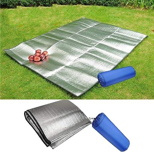 popular RiamxwR Waterproof Aluminum Foil discount EVA Camping Mat Folding Sleeping Picnic Beach Outdoor Tent Sleeping Pad Air 2021 Mattress Mat Pad Moisture Proof Picnic Blanket Cushion Mat online
