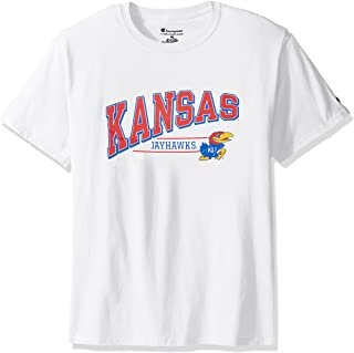 NCAA Kansas Jayhawks Men's Champ Short Sleeve T-Shirt 4, Large, White