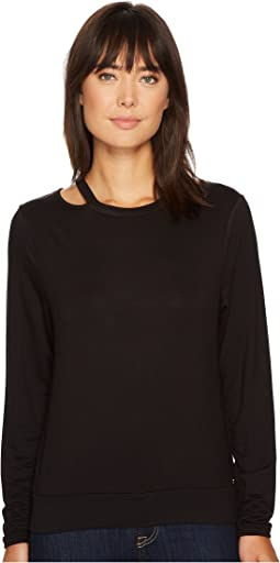 Ivanka Trump - Knit Slit Shoulder Long Sleeve Tee