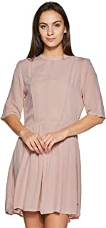 VERO MODA Women's Pleated Knee-Long Dress
