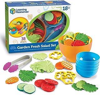 مجموعة جاردن فريش سالاد من ليرنينج ريسورسز، 38 قطعة، تتضمن الخضراوات ومجموعة لعب الطعام، مناسبة لعمر عامين فما فوق