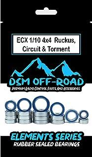 ECX 1/10 4wd Circuit, Ruckus, Torment Bearing Kit Set (18 Bearings) 4x4