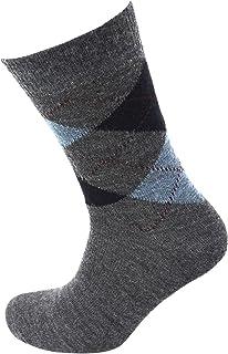 Viyella Made in England Mens Mid Grey Argyle Wool Socks