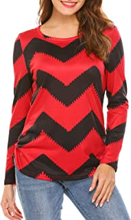 red and white chevron blouse
