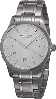 Victorinox - Classic 241476 - Reloj analógico de Cuarzo para Hombre, Correa de Acero Inoxidable Color Plateado