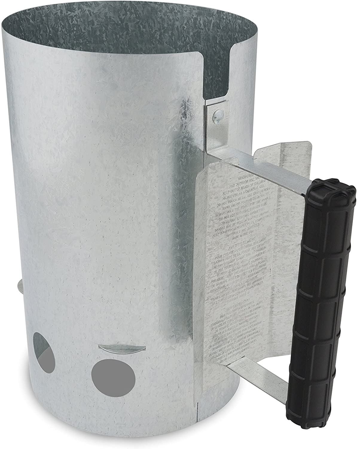 GrillPro 2021 new 39470 Chimney Starter Charcoal Silver Bargain sale