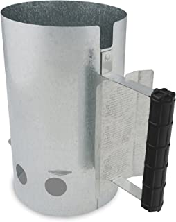 GrillPro 39470 Chimney Charcoal Starter, Silver